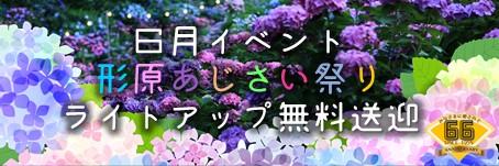 【6月イベント】形原あじさい祭り★ライトアップ会場へ無料送迎
